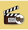 clapper movie hand icon design vector image vector image