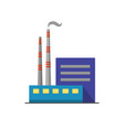 coal power plant icon in flat style vector image