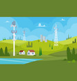 communication towers wireless antennas cellular vector image