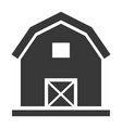 country barn black icon farming rustic house vector image