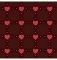 Dark red hearts pattern2 vector image vector image