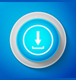 download icon upload button load symbol vector image vector image