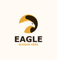 eagle negative space logo template vector image vector image