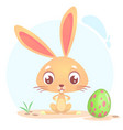 easter rabbit cute cartoon vector image