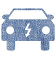 electric car fabric textured icon vector image