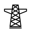 electric tower icon isolated on white background vector image