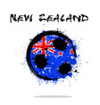 flag of new zealand as an abstract soccer ball vector image