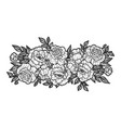 flowers tattoo sketch vector image vector image