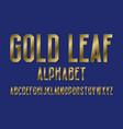 gold leaf alphabet high letters retro font vector image vector image