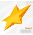 gold star award on abstract vector image vector image