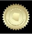 Gold star label Arizona vector image vector image
