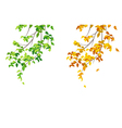 Green and yellow branches vector image vector image