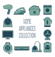 home appliances collection vector image