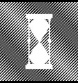 hourglass sign icon hole in vector image