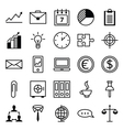 Icon set a business and office vector image