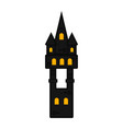 isolated halloween haunted mansion icon vector image