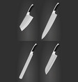 kitchen knives vector image