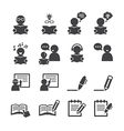 learning icon vector image vector image