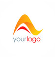 letter a business logo vector image