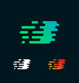 letter i modern speed shapes logo design vector image vector image