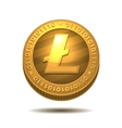 Litecoin isolated on white vector image vector image