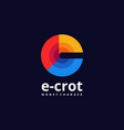 logo circle gradient colorful style vector image