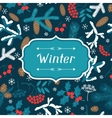 Merry Christmas background with stylized winter vector image