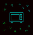 microwave oven linear icon graphic elements for vector image