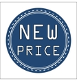New Price Icon Badge Label or Sticke vector image vector image