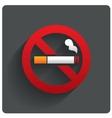 No smoking sign No smoke icon Stop smoking vector image