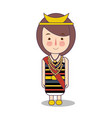 north nusa tenggara province fashion cute girl vector image vector image