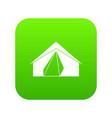 open tent icon digital green vector image vector image