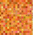 Orange color square mosaic background design vector image vector image