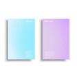 pastel-gradient-brochure vector image