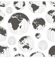 pattern nine globes vector image vector image
