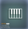 piano key icon On the blue-green abstract vector image