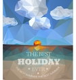 Polygonal seaside view sammer poster vector image