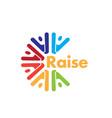 rise success logo designs vector image vector image