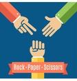 Rock Paper and Scissor Game Flat vector image vector image