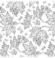 Rowan berry pattern autumn white black cover