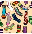 Seamless pattern of doodle socks for web design vector image vector image