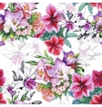 Seamless pattern with Beautiful flowers vector image