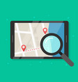 searching road map location vector image