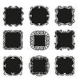 set decorative patterns for design frameworks vector image vector image
