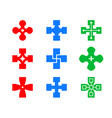 set heal and cure icon art vector image vector image
