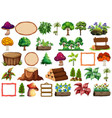 set nature element vector image