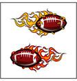sport ball flame set 2 vector image vector image