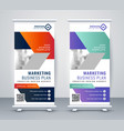stylisj rollup banner design in geometric style vector image