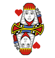 Stylized Queen of Hearts no card vector image vector image