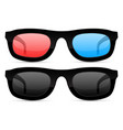 sunglasses and 3d movie glasses vector image